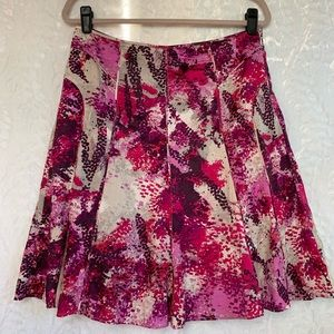 Ann Taylor Abstract Animal Print Lined Skirt-8